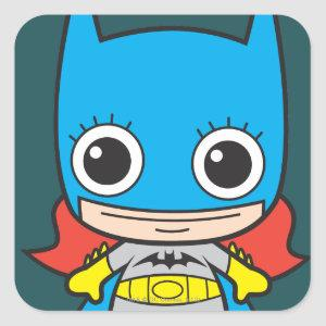 Mini Batgirl Square Sticker