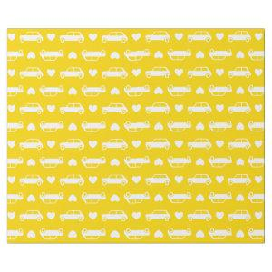 Mini Cooper Hearts - Yellow Wrapping Paper