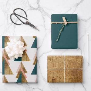 Minimal Christmas Tree Wrapping Paper Sheets