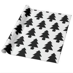 Minimalist Trees Wrapping Paper
