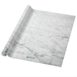 Minimalist White Marble Wrapping Paper