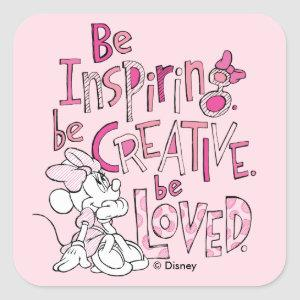 Minnie | Be Inspiring Square Sticker