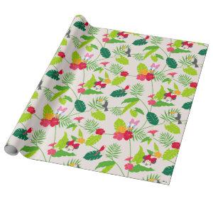 Minnie & Daisy | Tropical Pattern Monogram 2 Wrapping Paper