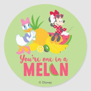 Minnie | Minnie Says Your'e One In A Melon Classic Round Sticker