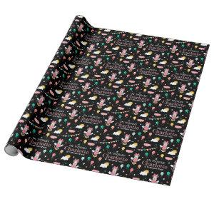 Minnie Mouse Chalkboard Birthday Wrapping Paper