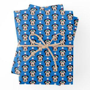 Minnie Mouse | Cute Christmas Hat Wrapping Paper Sheets