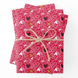 Minnie Mouse | Doodle Pattern Wrapping Paper Sheets