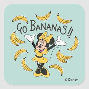 Minnie Mouse | Go Bananas Square Sticker