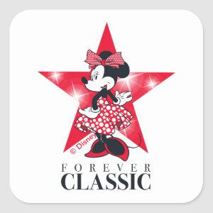 Minnie Mouse | Hollywood - Forever Classic Square Sticker