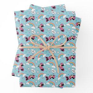 Minnie Mouse | I Love Rainbows Pattern Wrapping Paper Sheets