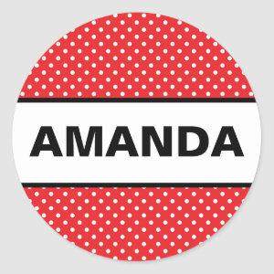Minnie Mouse Inspired Custom Name Sticker