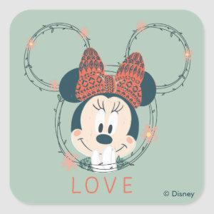 Minnie Mouse | Love Square Sticker