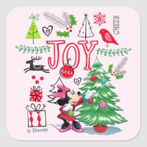 Minnie Mouse | Minnie's Christmas Joy Square Sticker