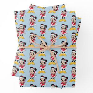 Minnie Mouse | Mrs. Claus Outfit Wrapping Paper Sheets