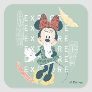 Minnie Mouse | Never Stop Exploring Square Sticker