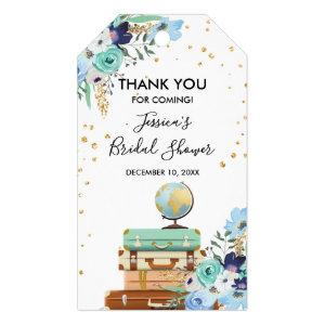Miss to Mrs thank you tags Bridal shower Travel