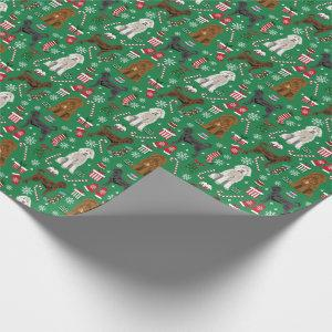 Mixed coats Labradoodle dog christmas Wrapping Paper