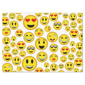 Mixed emoji pattern fun party tissue tissue paper