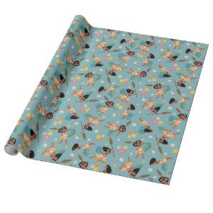 Moana | Floral Pattern Wrapping Paper