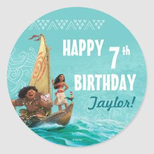 Moana | Oceanic Birthday Classic Round Sticker