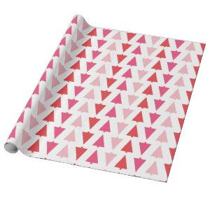 Modern Christmas Trees Pink Holiday Patterned Wrapping Paper