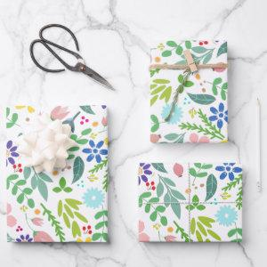 Modern Floral Wrapping Paper Sheets