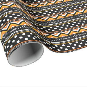 Modern Happy Halloween Pattern Wrapping Paper