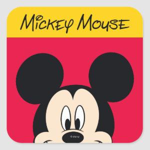 Modern Mickey | Smiling Head Square Sticker