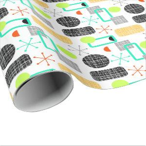 Modern Mid Century Geometric Pattern Wrapping Paper