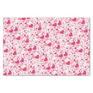 Modern Patterned Hearts Valentine's Day Tissue Paper