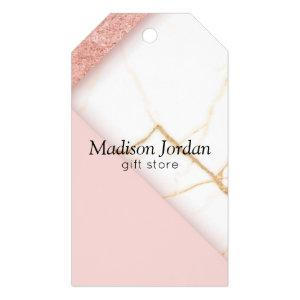 Modern Pink and Gold Marble Gift Tags
