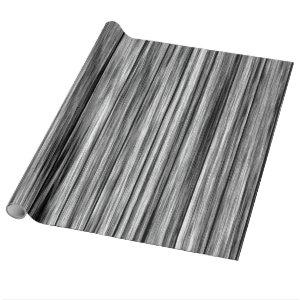Modern rustic black gray wood grain pattern wrapping paper