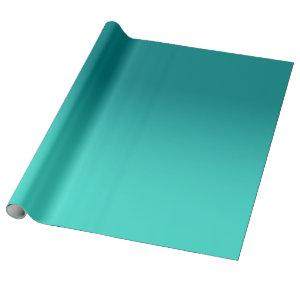Modern Teal and Turquoise Ombre Wrapping Paper