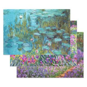 Monet Garden Landscapes Wrapping Paper Sheets