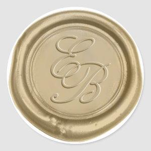 Monogram Gold Wax Seal Wedding