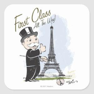 Monopoly | First Class all the Way Square Sticker