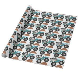 Monster Trucks Wrapping Paper