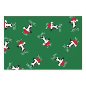 Moo-ey Christmas Cow Funny Santa Claus Wrapping Paper Sheets