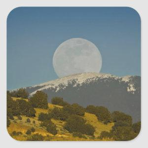 Moonrise over the Sangre de Cristo Mountains, Square Sticker