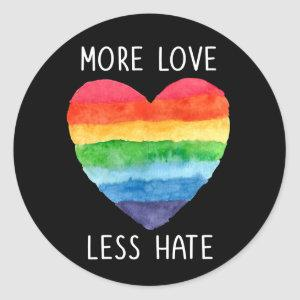 More Love Less Hate Stickers