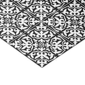 Moroccan tile - black with white background tissue paper