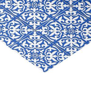 Moroccan tile - cobalt blue and white tissue paper