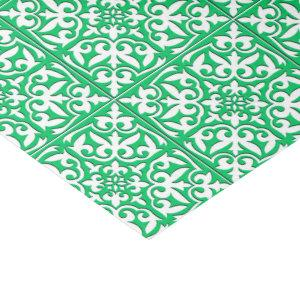 Moroccan tile - jade green and white tissue paper