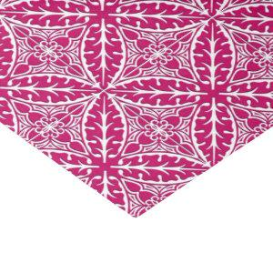 Moroccan tiles - magenta and white tissue paper