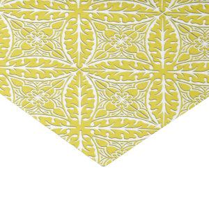 Moroccan tiles - mustard gold and white tissue paper