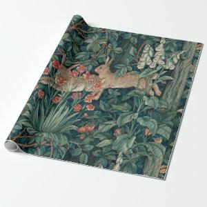 Morris Tapestry Forest Rabbits Wrapping Paper