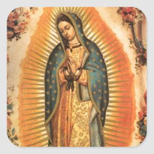 Mother Mary Our Lady The Virgin of Guadalupe Square Sticker