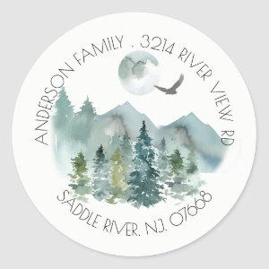 Mountains | New Home Address Label Sticker