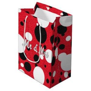 Mouse Party Mr & Mrs Bridal Shower Polka Dot Party Medium Gift Bag