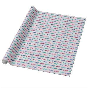 Multi-colored Dachshund Pattern Wrapping Paper